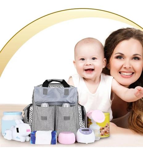 mochila y bolso maternal + mudador + portamamaderas