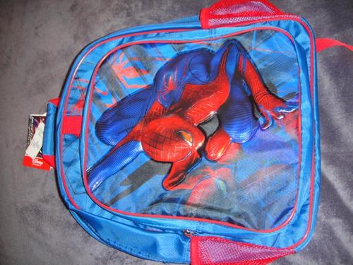 mochila y lonchera spiderman disney store original ( 007 )