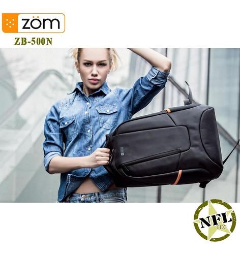 mochila zom impermeable acolchada notebook 15,6 + tablet 10
