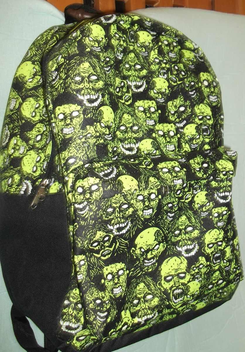 Mochila Zombie Brilla En La Oscuridad, Ouija 1d Creeper