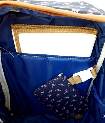 mochila/bolso maternal paz azul scissors queens