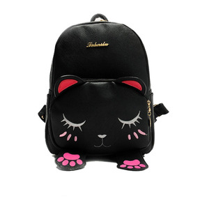 53f75d19c8d Mini Mochila Para Niñas Cute Cat Design Moda Bolso De Cue