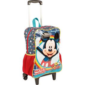 a9dc75977 Mochila Com Rodinhas Mickey 65316 - Sestini