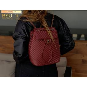 f3ed3ee0b Mochila Chanel Bolsa Mujer Roja Tinta Envio Gratis De Oferta