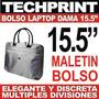 Maletin Bolso Laptop 15.5 Para Dama Color Plomo 5 Divisione