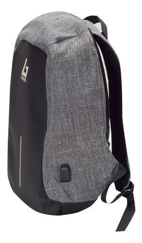 mochilas antirrobo legend m1713 gris clara + microsd 64 gb