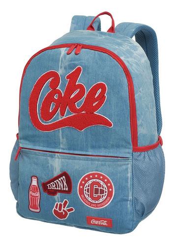 mochilas costas g coca cola team spirit azul g