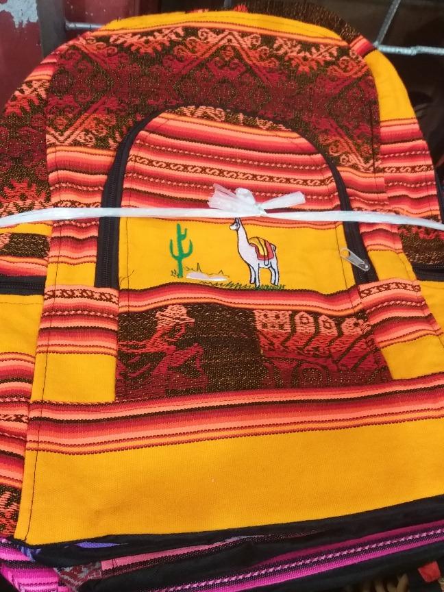Mochilas De Aguayo- Artesanal Por 12ud. Surtidas -   4.199 9f58e36b39e