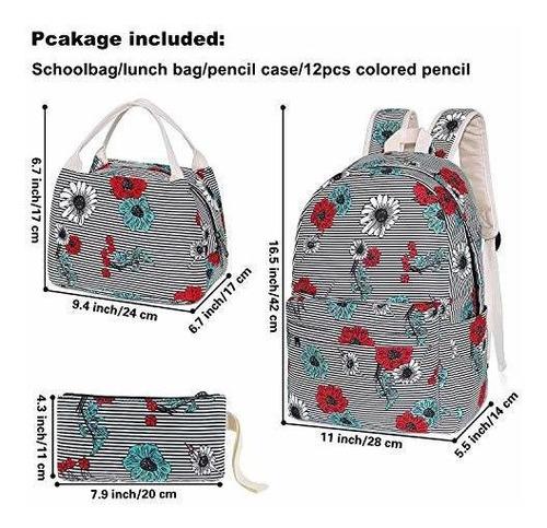 mochilas de secundaria con bolsa de almuerzo estuche de lapi
