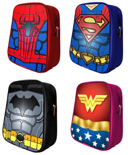 mochilas dulcero super heroes spider batman superman y mas!!
