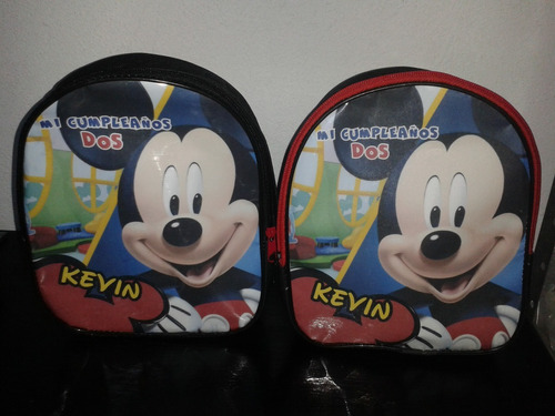 mochilas dulceros personalizadas - lona gratis