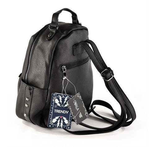 mochilas eco cuero mujer tachas negras trendy originales
