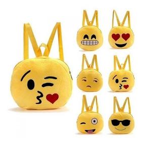 más fotos 802dc 85227 Mochilas Emojis Emoticones Felpa Infantil Jardin