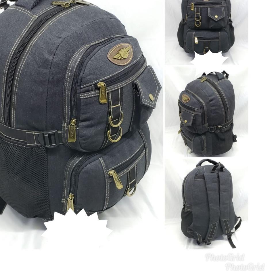 607f628df mochilas escolar em lona 35l notebook unissex ref: 192. Carregando zoom.