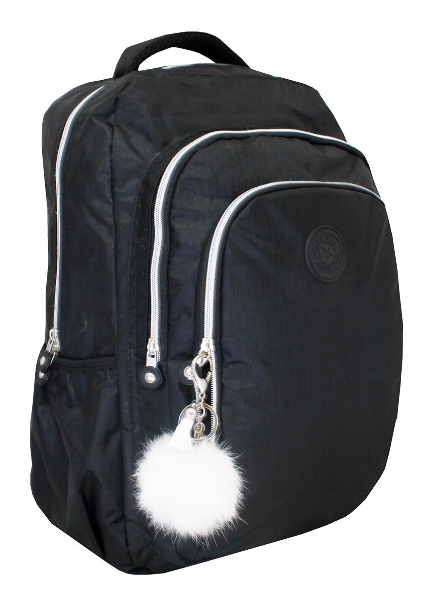 50d65098a mochilas escolar notebook facul impermeável com pompom tm16. Carregando  zoom.