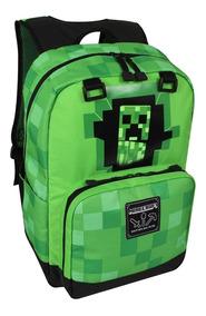 muchas opciones de predominante Precio de fábrica 2019 Mochilas Escolares Minecraft Verde Escuela Pixel Niños Y Lonchera