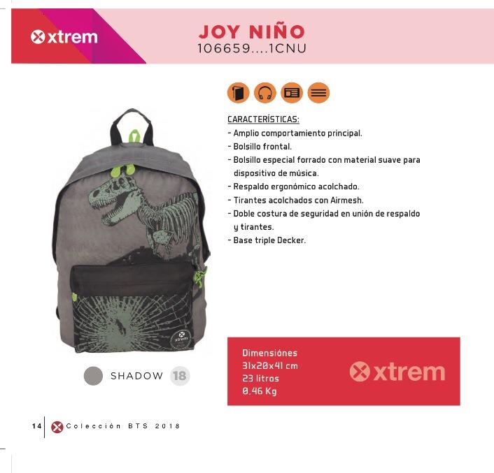 Mochilas Escolares Dinosaurio Xtrem Joy Niño Mochila Escolar - $ 987 ...