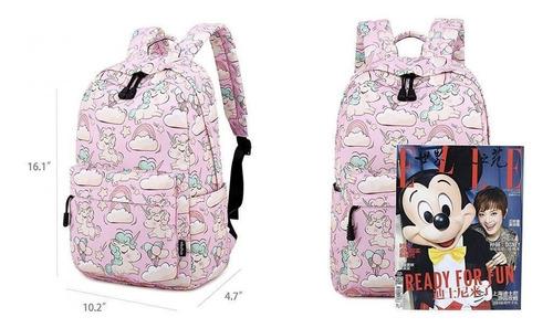 mochilas escolares unicornio niña moda unicorn 2019 rosa