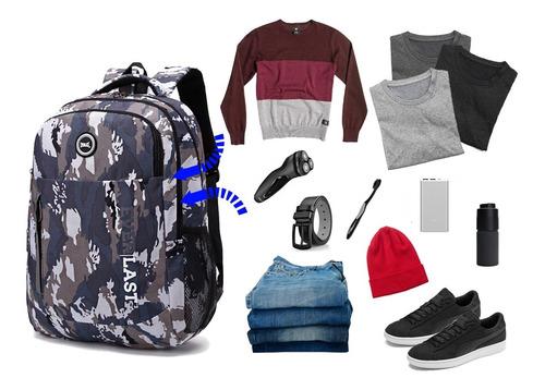 mochilas everlast portanotebook urbana universitaria escolar