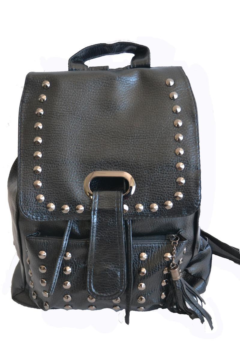 78558ccd787 mochilas negras de cuerina para mujer. Cargando zoom.