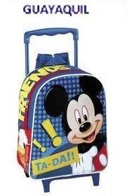 6fb04b61721 Mochilas Para Niños Con Ruedas De Personajes De Mickey Mouse ...
