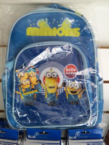 mochilas para niños de los minions  jardin - preescolar