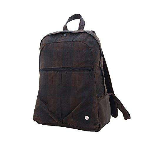 mochilas token mochila cera woodhaven, tela escocesa marrón