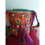 Mochila Wayuu Guajira Original En Colores Con Gasa