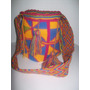 Mochila Wayuu Original Colores Mediana