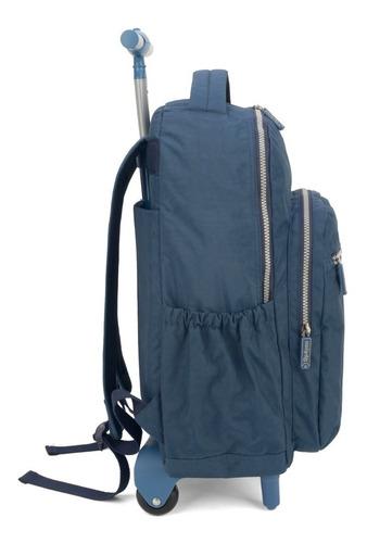 mochilete  crinkle up4you azul - 51168