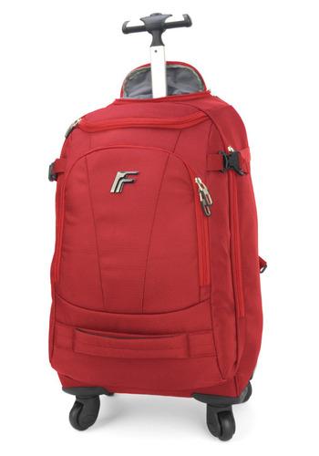 mochilete executivo fico vermelho 4 rodas 360 graus -51242