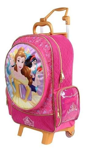 mochilete g princesas cinderela, branca de neve- 30407