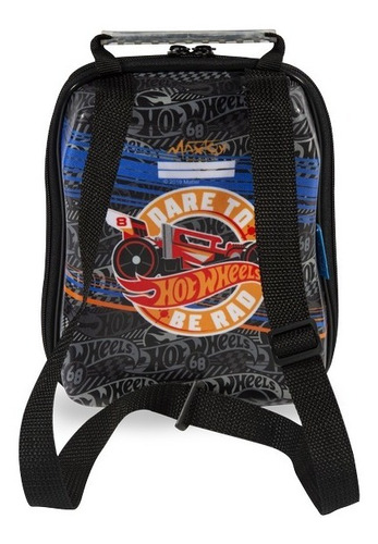mochilete hotwheels d-muscle 3d mochila escolar + lancheira