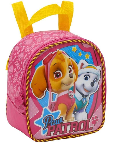 mochilete+lancheira patrulha canina team skye girl g - 7980