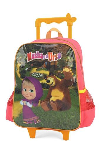 mochilete   masha e o urso m verde- 32632