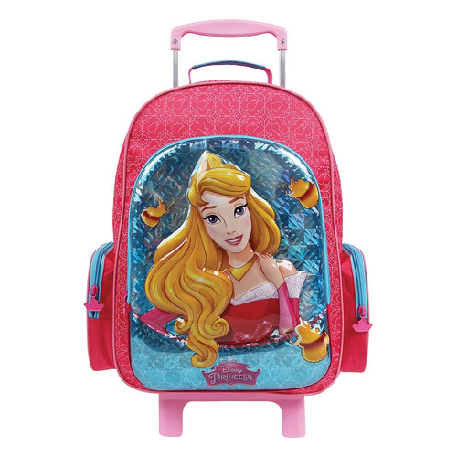 mochilete princesa aurora holográfica 3d dermiwil- 30004