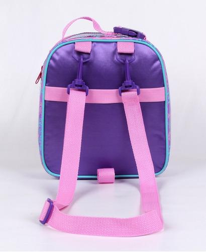 mochilete princesa sofia g 52171 + lancheira + estojo triplo