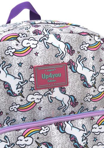 mochilete  unicornio prata g up4you -51155