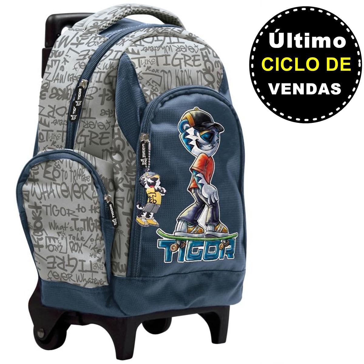 9a19fabe92 Mochilinha Infantil Pequena C  Rodinhas Tigor T. Tigre