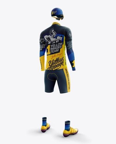 mockup ciclismo manga longa yellow images