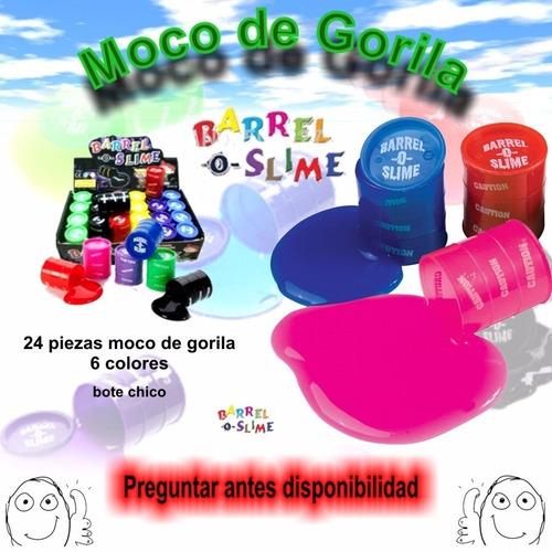 moco de gorila  barrel  slime 24 pzas chicas promocion remat