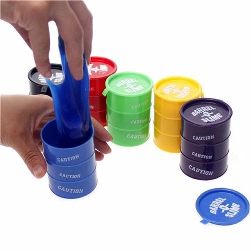 moco de gorila  barrel slime caja con 24 piezas 6 colores