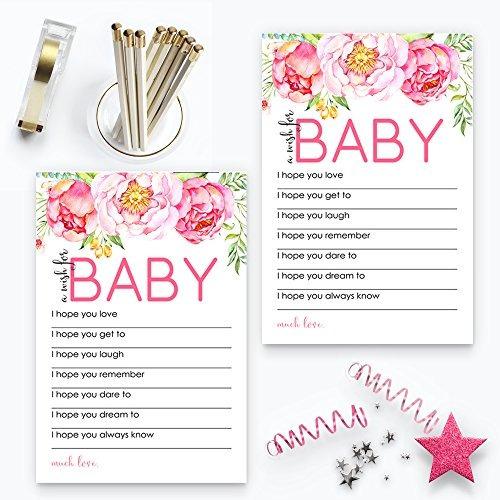 mod floral deseos baby shower juego 20 pc. recién nacido niñ