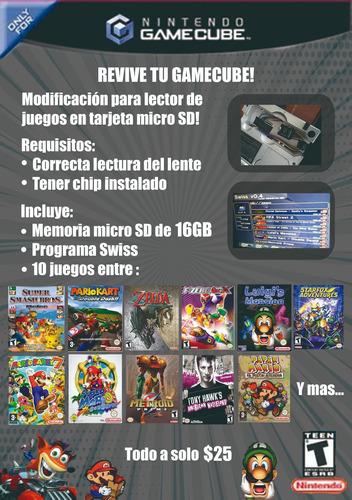 mod tarjeta microsd gamecube