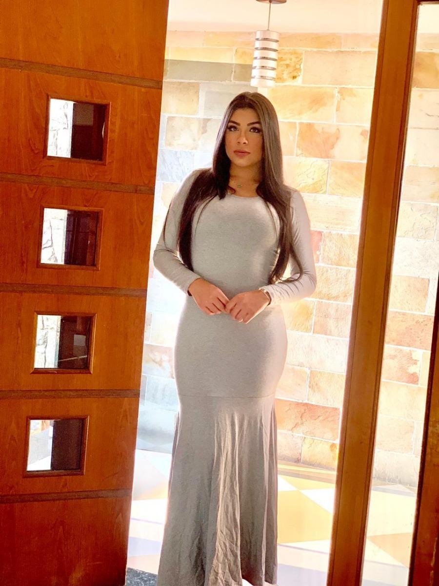 a6da439ed5 moda 2018 loja de roupas feminina vestido sereia liso juveni. Carregando  zoom.