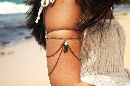 moda accesorios brazaletes/ chain arm cuff danza arabe