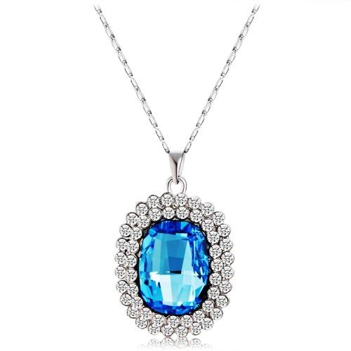Moda adorno necklace round blue crystal pendant 20036 en moda adorno necklace round blue crystal pendant aloadofball Images