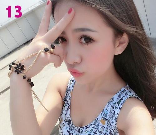 moda asiatica pulceras con anillo love dorado plata barato