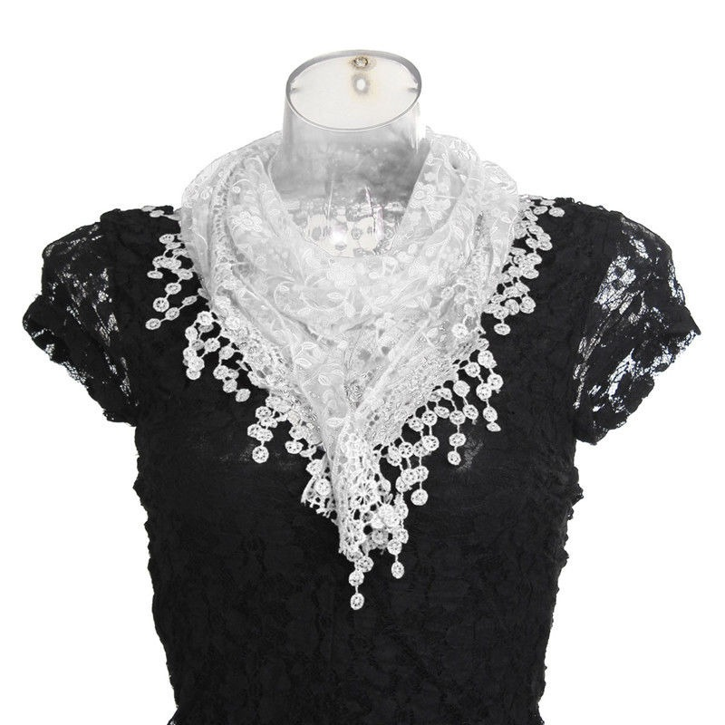 Moda Belleza Patrón Mujer Bufanda Larga Abrigo... (black) - $ 27.990 ...