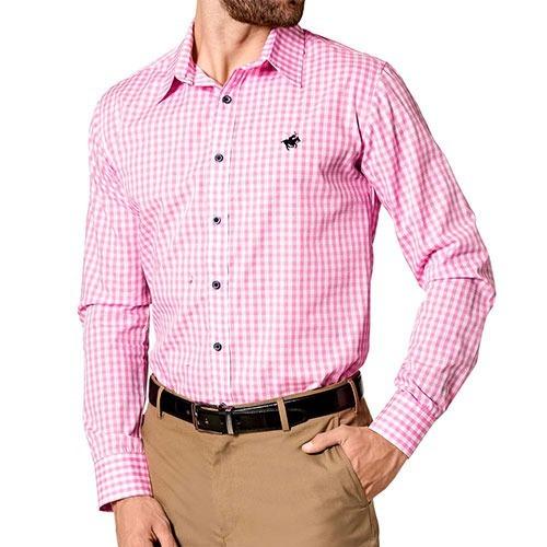 moda camisa  dmi cam05 rosa blanco caballero pv